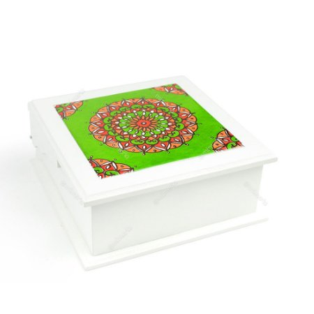 Caixa de Chá MDF Nepal Verde