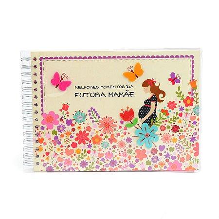 Álbum de Recordações Futura Mamãe Flores