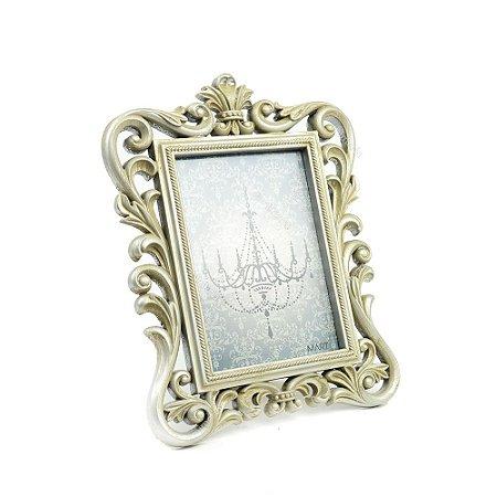 Porta Retrato Imperial Envelhecido Prata 13x18