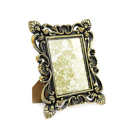 Porta Retrato Art Nouveau Dourado 13x18