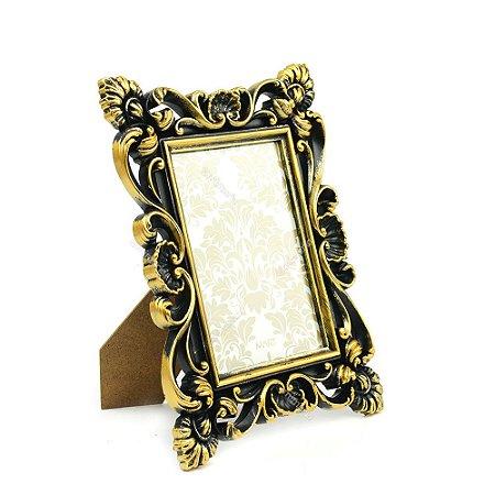 Porta Retrato Art Nouveau Dourado 10x15