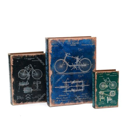 Conjunto 3 Livros Caixa Bike Vintage