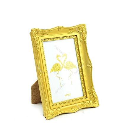 Porta Retrato Vintage Dourado 10x15