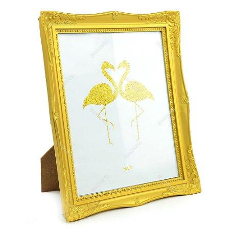 Porta Retrato Vintage Dourado 20X25