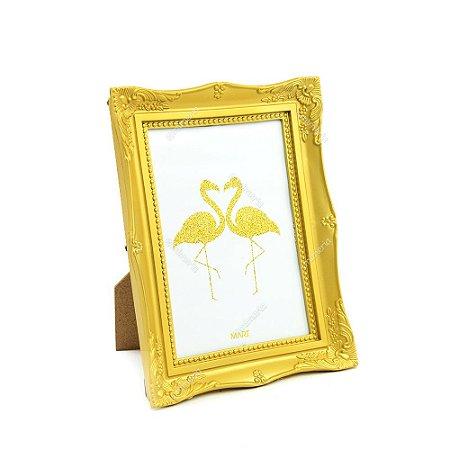 Porta Retrato Vintage Dourado 13x18