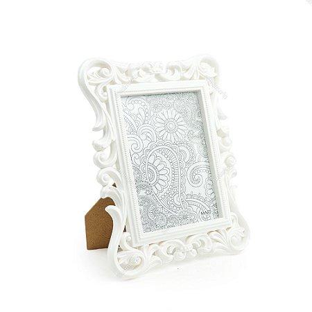Porta Retrato Arabescos Branco 10x15