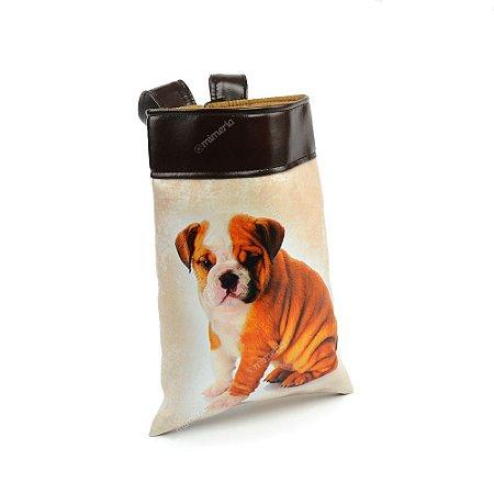 Lixeira de Carro Cachorro Bulldog Filhote