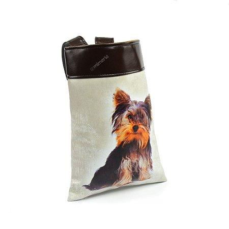 Lixeira de Carro Cachorro Yorkshire Cinza