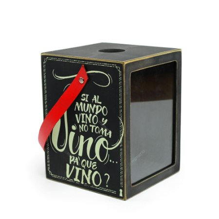 Caixa Porta Rolhas Vino
