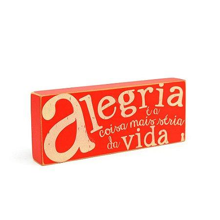 Quadro Box Alegria 12x30