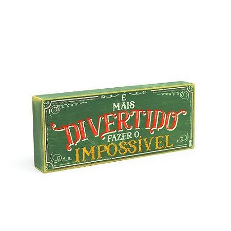 Quadro Box Impossível 12x30