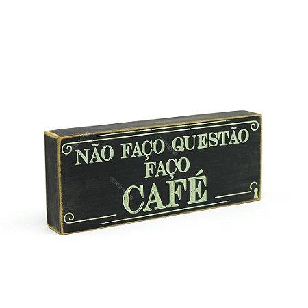 Quadro Box Faço Café 12x30