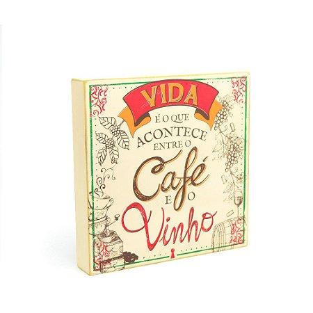 Quadro Box Café Vinho 25x25
