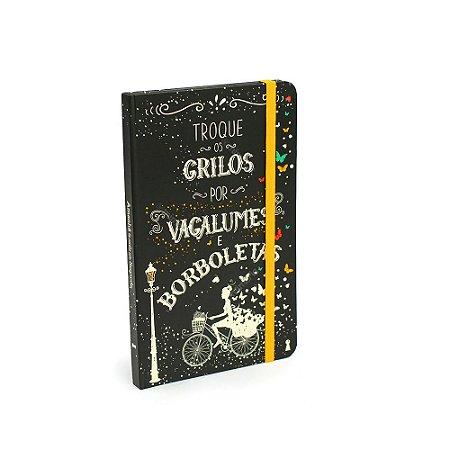 Caderno Criativo Com Elástico Borboletas