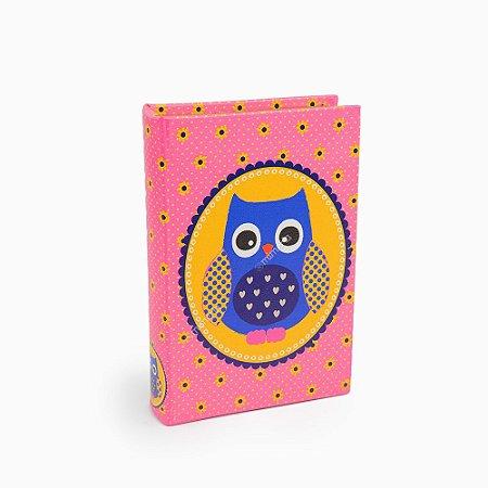 Livro Caixa Coruja Rosa