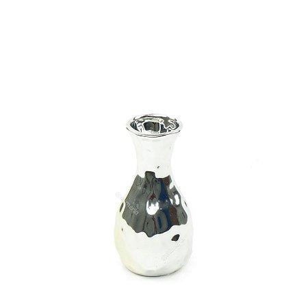 Vaso em Cerâmica Pequeno Prata