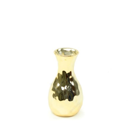 Vaso em Cerâmica Pequeno Dourado