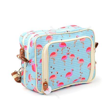 Bolsa Transversal Estampada Flamingo