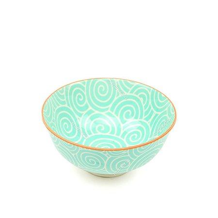 Bowl de Cerâmica Pequeno Espiral Verde