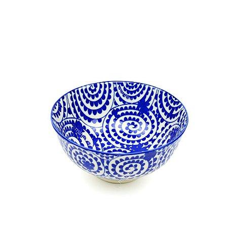 Bowl de Cerâmica Pequeno Espiral Azul