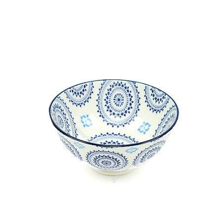 Bowl de Cerâmica Pequeno Mandala Azul