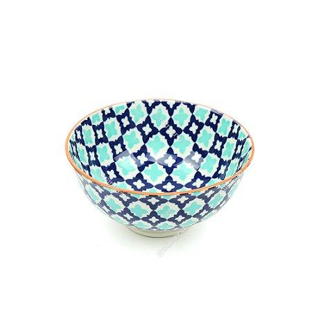 Bowl de Cerâmica Pequeno Marroquinho Azul e Verde