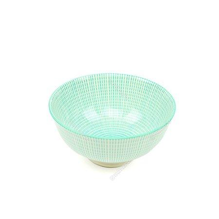 Bowl de Cerâmica Pequeno Quadriculado Verde