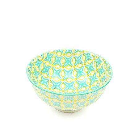 Bowl de Cerâmica Pequeno Marroquino Amarelo e Verde