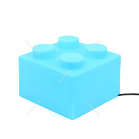 Luminária Bloco de Montar Azul