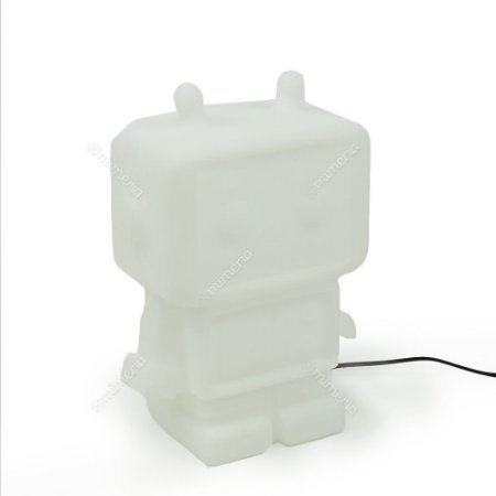 Luminária Robô Branco