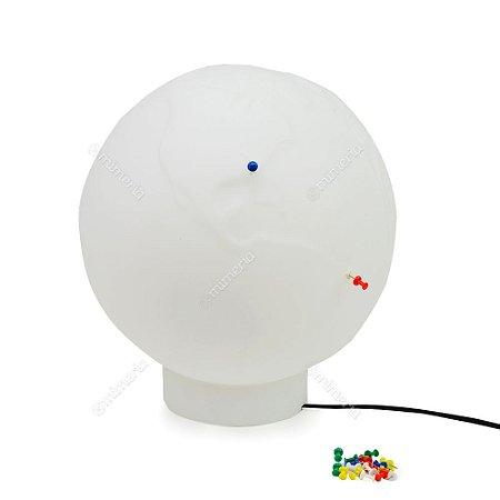 Luminária Globo Push Pin Branco