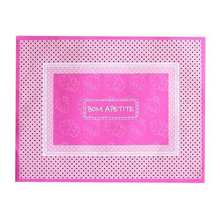 Jogo Americano Cupcake Rosa Individual