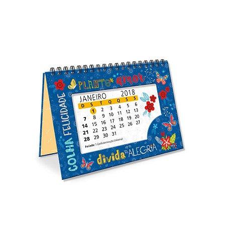 Calendário de Mesa Decorado Plante Amor 2018
