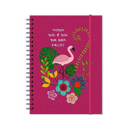 Caderno Universitário Flamingo 200 folhas
