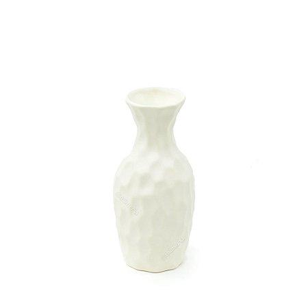 Vaso em Cerâmica Médio Branco