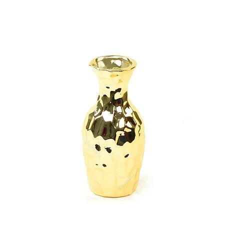 Vaso em Cerâmica Médio Dourado