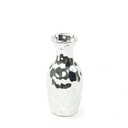 Vaso em Cerâmica Médio Prata