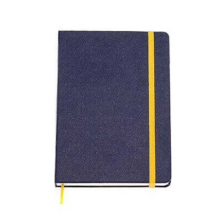 Caderneta sem Pauta Azul Marinho Média