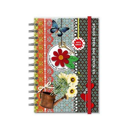 Caderno Médio Decorado com Aplique Poesia