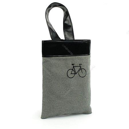 Lixeira de Carro Bike Preta e Cinza