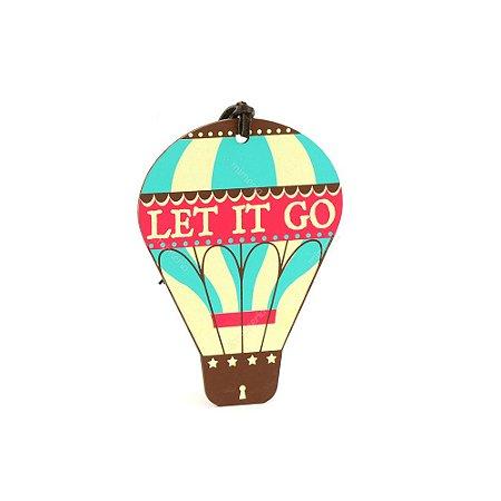 Plaquinha Tag Balão Let It Go