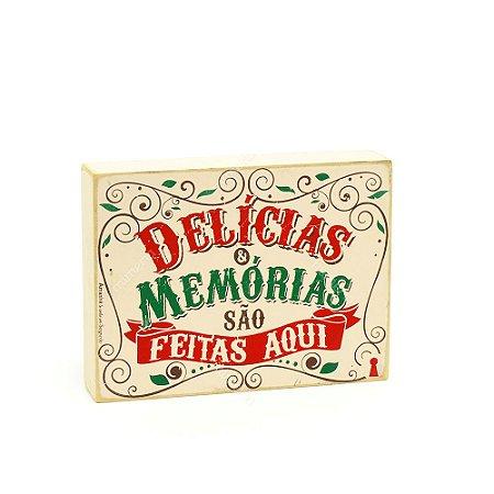 Quadro Box Delícias e Memórias 15x20