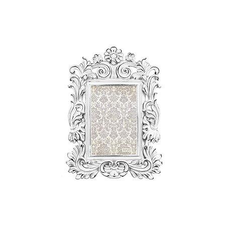 Porta Retrato de Resina Clássico Off White 10x15