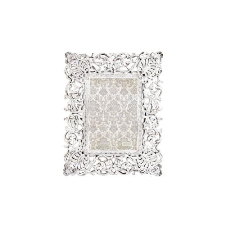Porta Retrato de Resina Neoclássico Off White 10x15