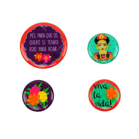 Kit Imãs Resinados Frida