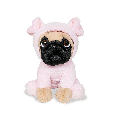 Cachorro Pug de Pelúcia Porquinho