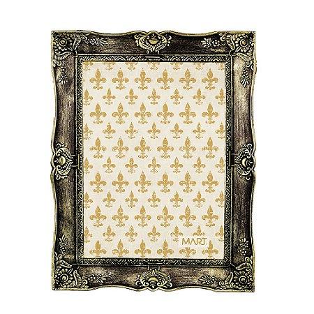 Porta Retrato Vintage Dourado Envelhecido 20x25