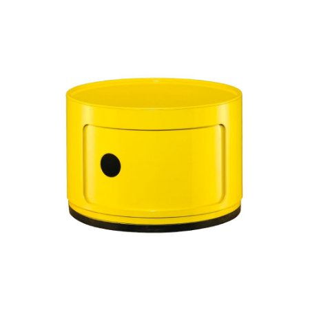 Prateleira Redonda Multiuso 1 Andar Amarela