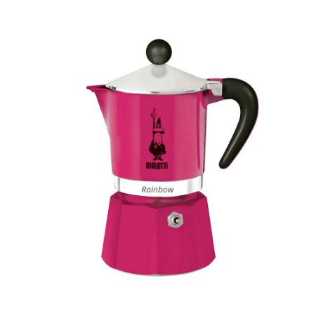 Cafeteira Italiana Bialetti Rainbow 3 Xícaras Pink