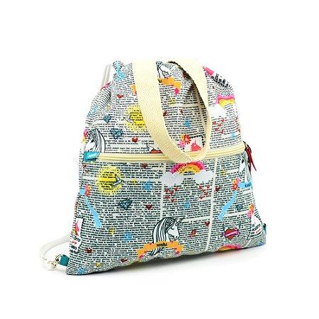 Mochila Bag Unicórnios Unika
